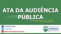 Ata da Audiência Pública n.º 002/19