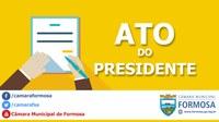 Ato do Presidente n.º 021/18