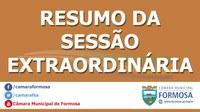 Resumo das Sessões Extraordinárias do dia 27/12/19